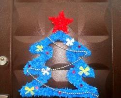 Arbore de Crăciun din carton