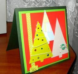 Card de Crăciun cu herringbone