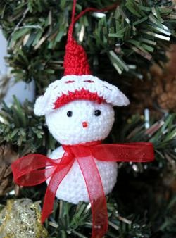 Snemand - legetøj til juletræ
