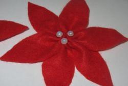 Workshop sobre a criação de uma flor de poinsétia