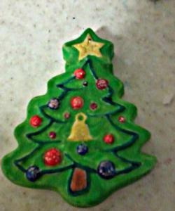 Jucării de Crăciun din tencuială