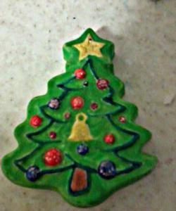 Коледни играчки от мазилка