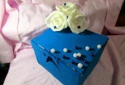 Ковчеже с цветя от гофрирана хартия