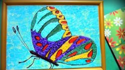 Butterfly egg shell mosaic workshop