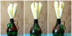 Uchwyt na serwetki wykonany z plastikowych butelek