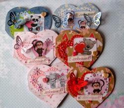 Valentiner i form af et hjerte til Valentinsdagen