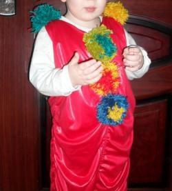 Costumul de clovn de Anul Nou într-o oră