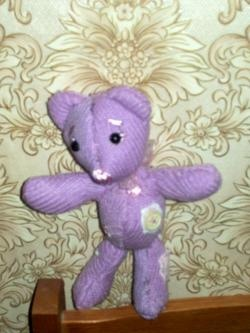 Wie man einen lila Teddybär macht