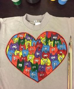 Pintura de camisetas infantis