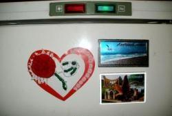 Valentine-kort - magnet