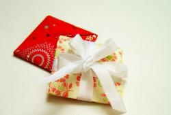 Gift envelope made of paper