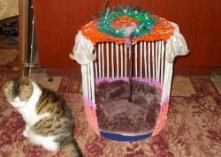 Къща за вестници за котки