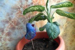 Ptak szczęścia - dekoracja dla roślin domowych