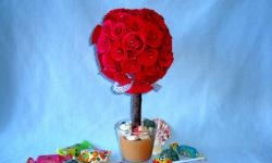 Topiary z różami