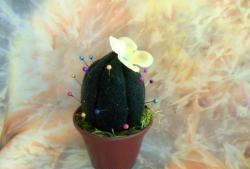 Styropianowy kaktus - pudełko z igłami