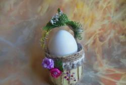 Coșul cu ouă de Paște în miniatură