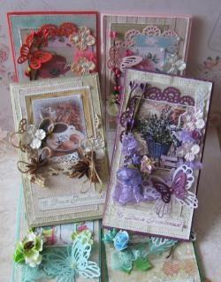 Eski püskü tarzı mutlu doğum günü kartları