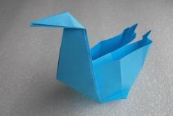 Pudełko z papieru łabędzia