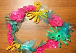 Пластмасова декорация за цветя