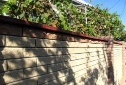 We build a brick fence