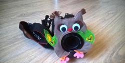 Fotograful bufniței - o jucărie pe obiectivul camerei