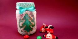 Do-it-yourself beautiful Christmas candlestick
