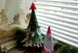 Дядо Коледа от цветна хартия