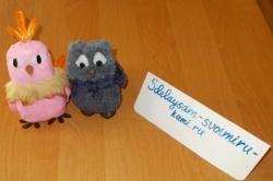 Coruja e papagaio de brinquedo