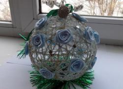 Bola de Natal de linha