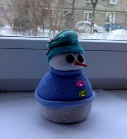 Șosete de om de zăpadă