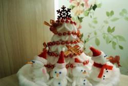Artesanato para o ano novo a partir de almofadas de algodão