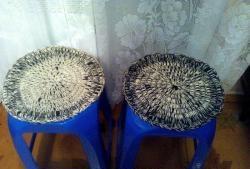 Tapete de tamborete acolchoado