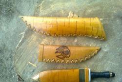 Θήκη μαχαιριού φλοιού Birch