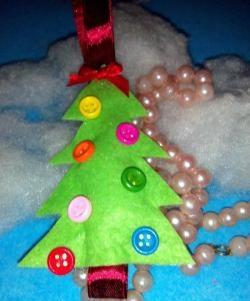 Weihnachtsbaum aus Viskose Serviette