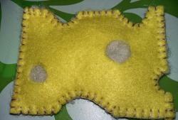 Играчка сирене от филц