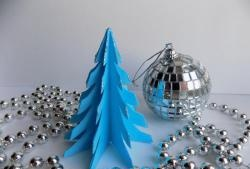 Fundo de papel azul de Natal