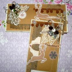 Новогодишни картички от занаятчийска хартия