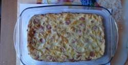A torta mais deliciosa com salsichas e queijo
