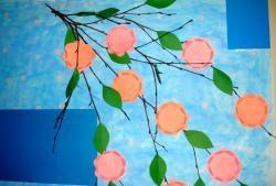 Kvist med blomster