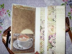 Cartão de café com chocolate