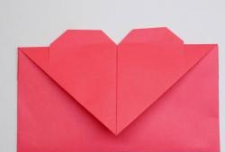 Envelope with a heart
