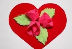Valentine z różami