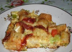 Krutonlu omlet
