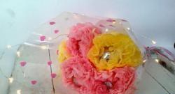 Μπουκέτο από γλυκά από χαρτοπετσέτες
