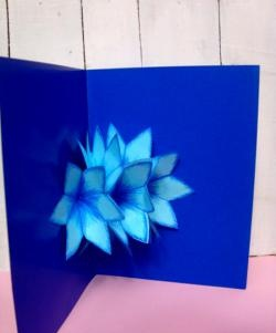 3D card with flowers