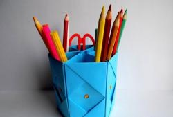 Suport pentru creion din hârtie