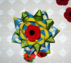 Broche DIY com símbolos ucranianos