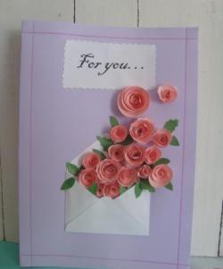 Cartão postal bonito e delicado