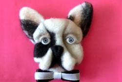 """Brooch """"Doggie"""" from wool"""