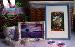 Klasa mistrzowska: ramki do zdjęcia z Prowansji